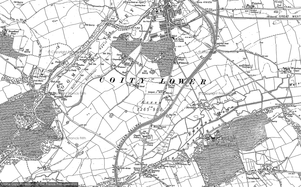 Old Map of Whiterock, 1914 in 1914