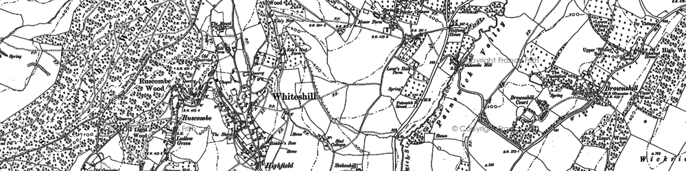 Old map of Whiteshill in 1882