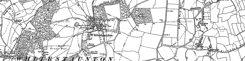 Old map of Whitestaunton in 1901