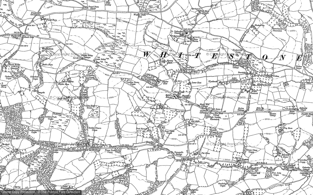 Old Map of Historic Map covering Alphincombe in 1887