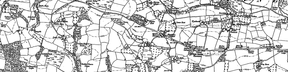 Old map of Whitestone Wood in 1887
