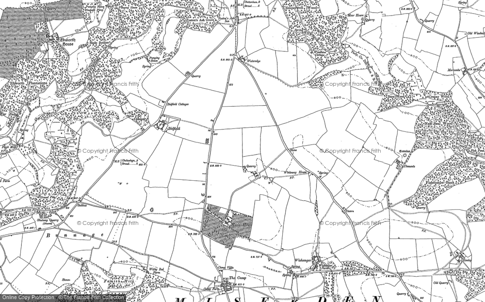 Old Map of Whiteway, 1882 in 1882