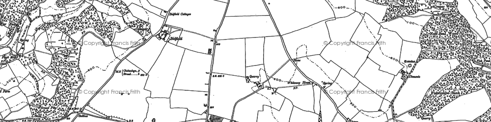 Old map of Whiteway in 1882