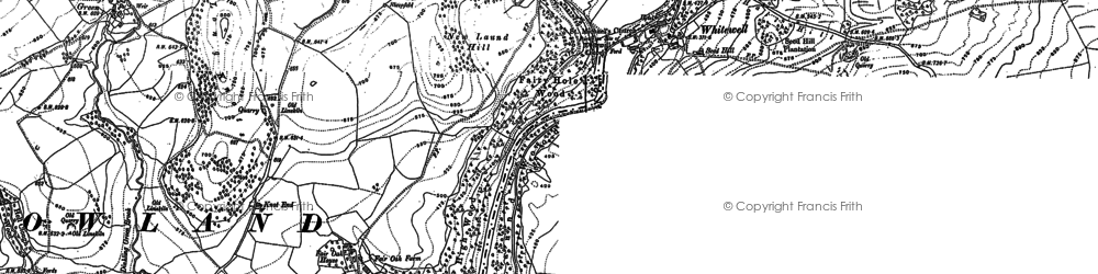 Old map of Wilsons in 1910