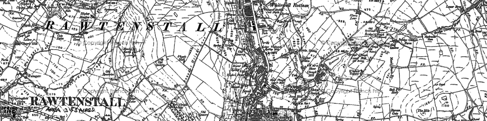 Old map of Whitewell Bottom in 1891