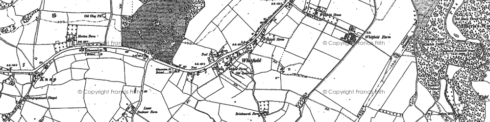 Old map of Whitfield in 1880