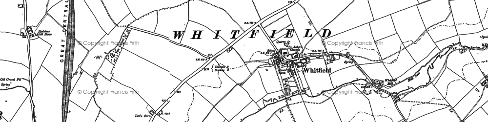 Old map of Whitfield in 1883