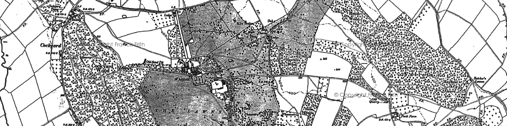 Old map of Banses Wood in 1886