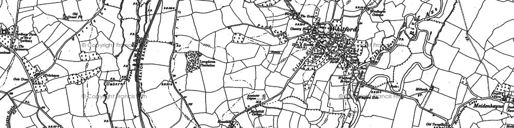 Old map of Whitford in 1887