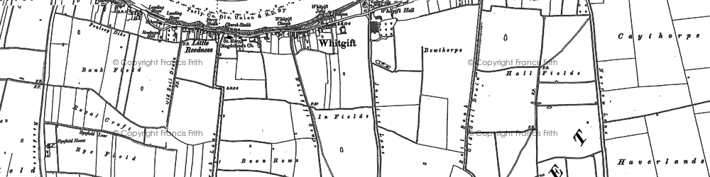Old map of Whitgift in 1888