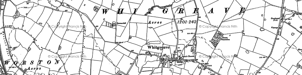 Old map of Whitgreave in 1880