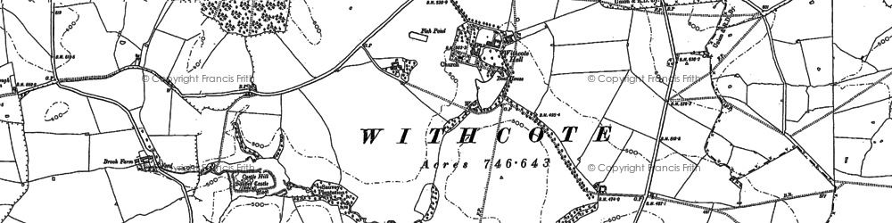 Old map of Withcote Lodge in 1902