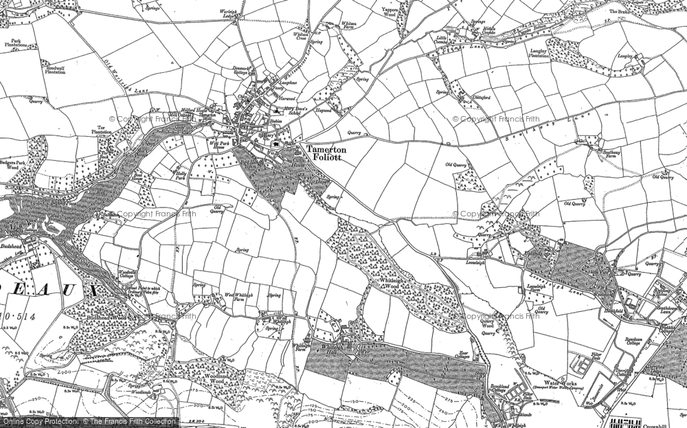 Old Map of Whitleigh, 1912 in 1912