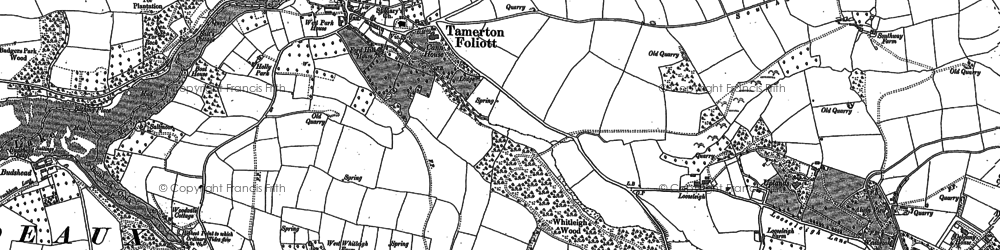 Old map of Whitleigh in 1912