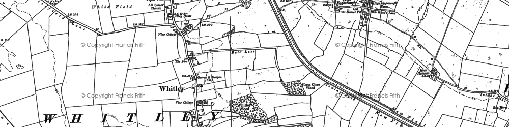 Old map of Whitley Thorpe in 1888