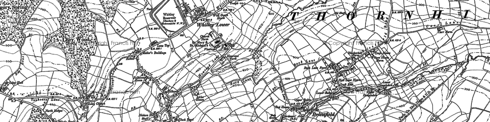 Old map of Whitley Lower in 1888