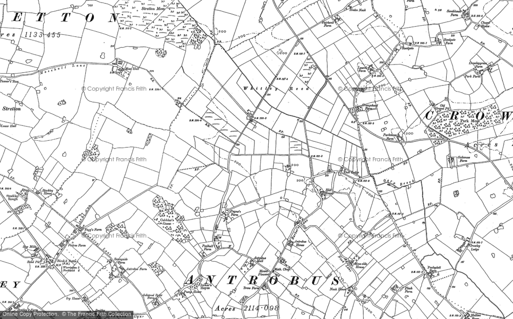 Old Map of Historic Map covering Badgers Croft in 1897