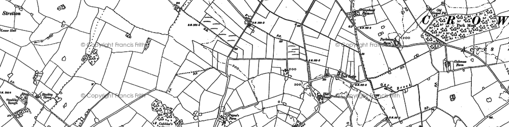 Old map of Whitley Reed in 1897