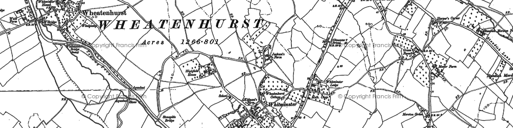 Old map of Whitminster in 1880