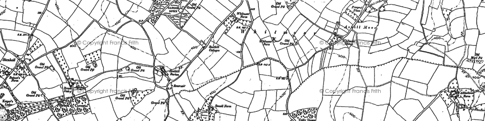 Old map of Whitmoor in 1887