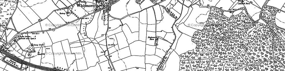 Old map of Whitmore in 1877