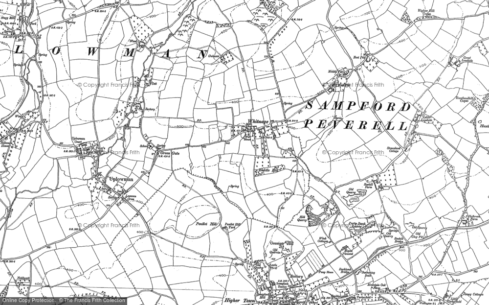 Old Map of Historic Map covering Ayshford in 1903
