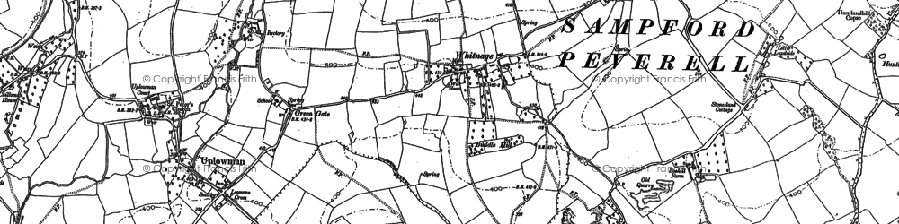 Old map of Whitnage in 1903