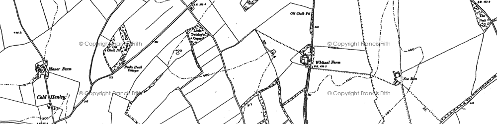 Old map of Whitnal in 1894