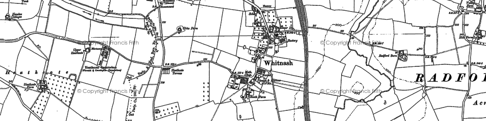 Old map of Whitnash in 1885