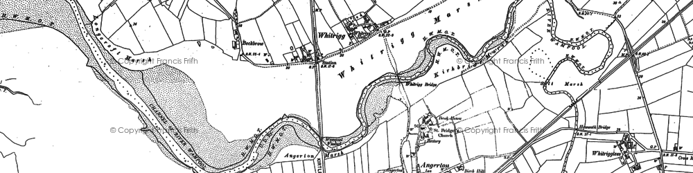 Old map of Angerton in 1899