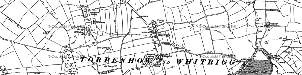 Old map of Whitrigg in 1899
