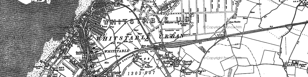 Old map of Whitstable in 1896