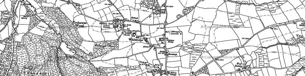 Old map of Bakesdown in 1905