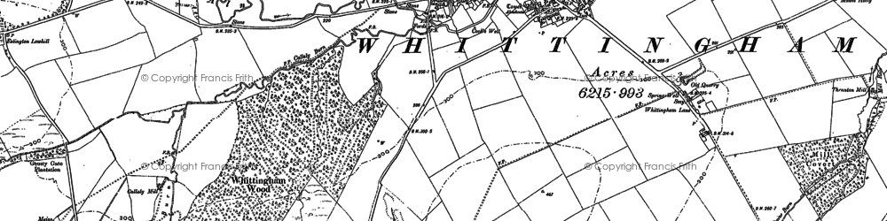 Old map of Whittingham Wood in 1896