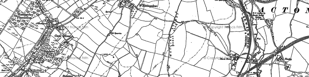 Old map of Whittingslow in 1883