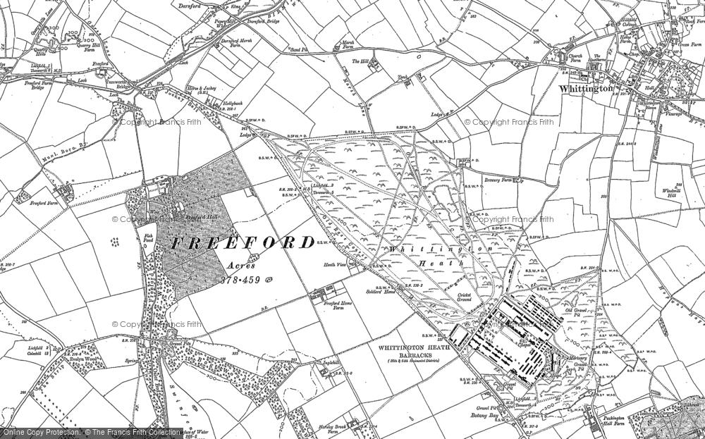 Whittington Heath, 1883 - 1900