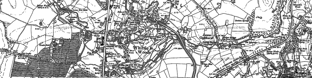 Old map of Whittle-le-Woods in 1893