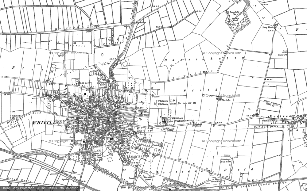 Map of Whittlesey, 1900 - 1901