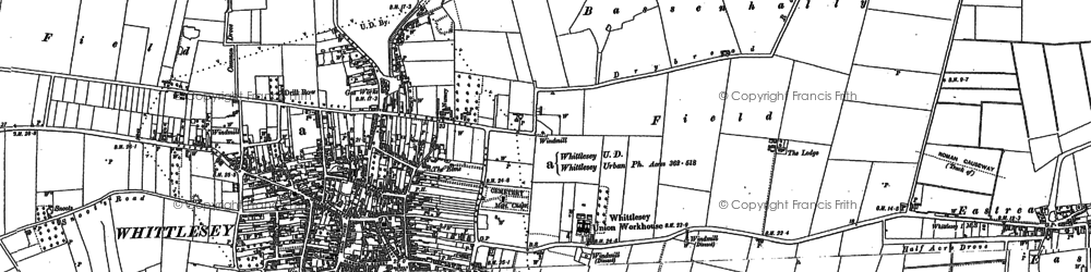 Old map of Whittlesey in 1900