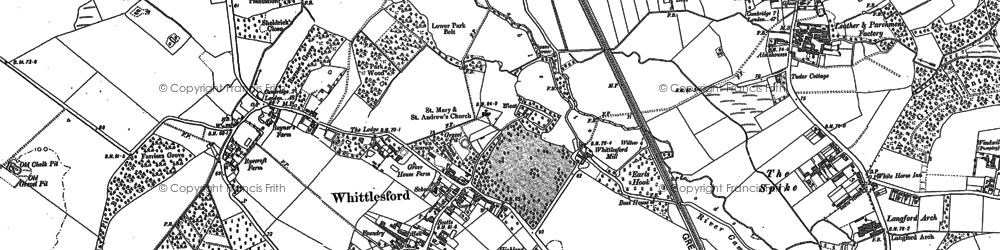Old map of Whittlesford in 1885