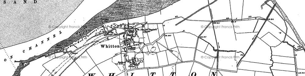 Old map of Whitton Ness in 1886