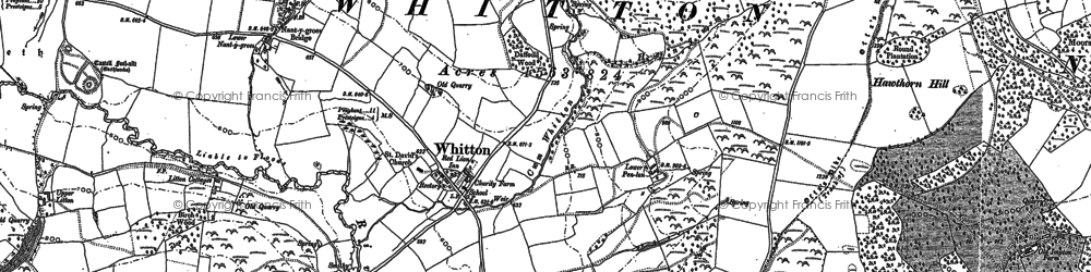 Old map of Whitton in 1887