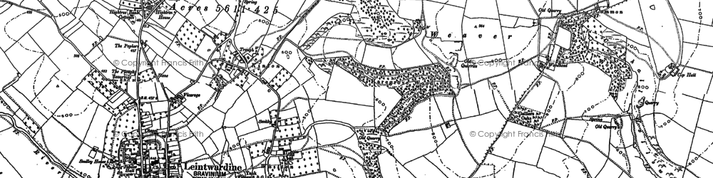Old map of Whitton in 1902