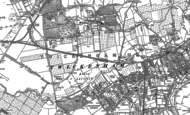 Old Map of Whitton, 1912