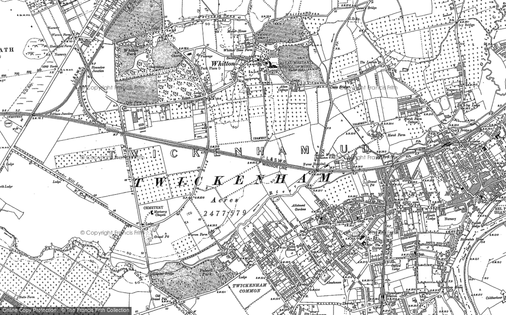 Map of Whitton, 1912