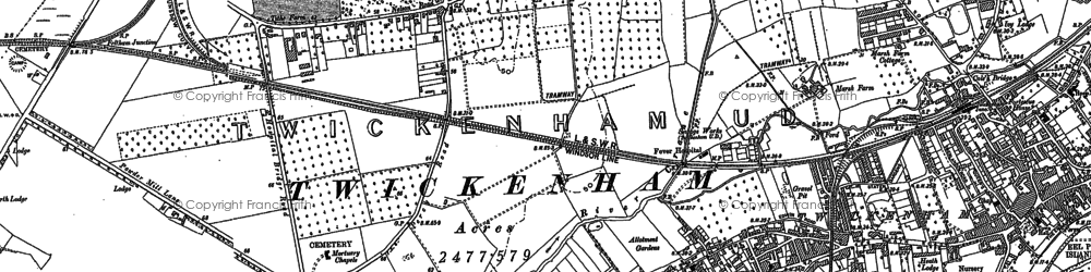 Old map of Whitton in 1912