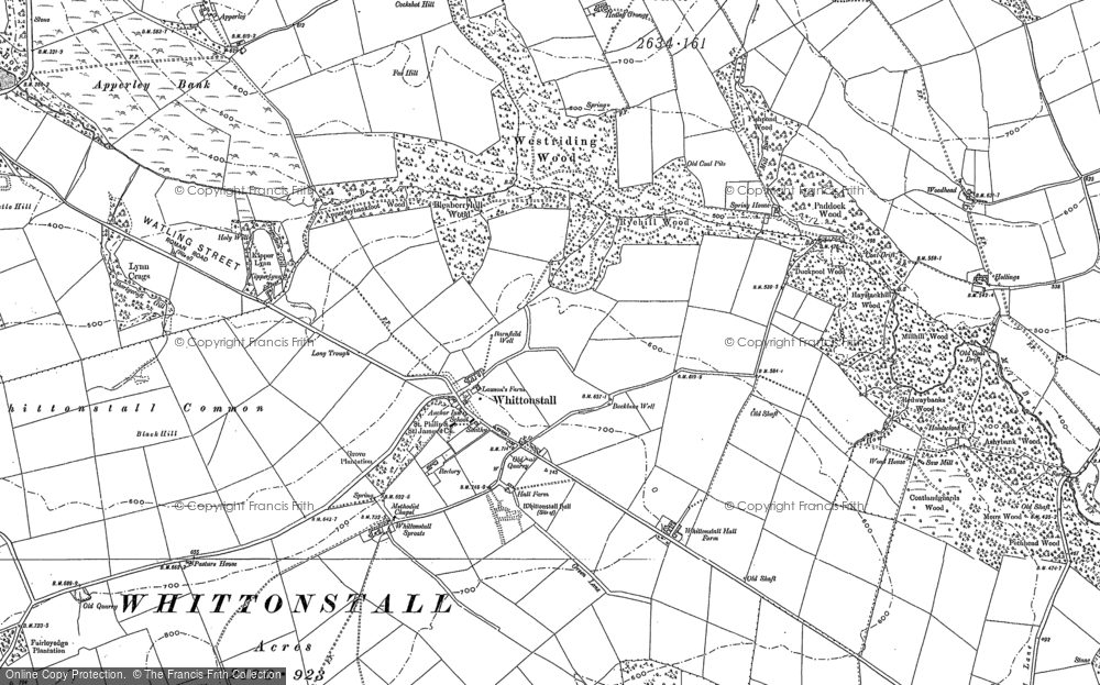 Old Map of Historic Map covering Whittonstall Sproats in 1895