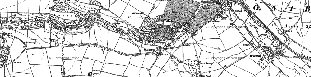 Old map of Whittytree in 1883