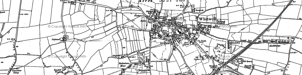 Old map of Bakestone Moor in 1884