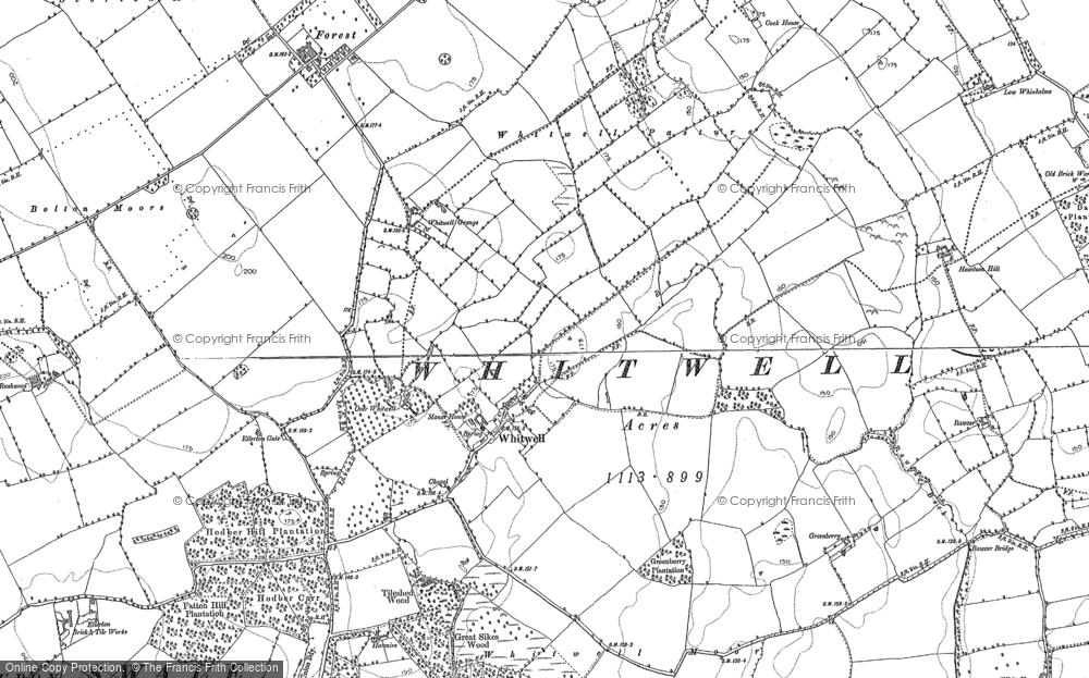 Old Map of Whitwell, 1891 in 1891